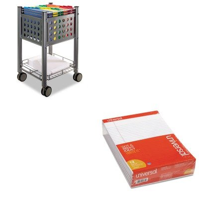 KITUNV20630VRTVF52002 - Value Kit - Vertiflex Sidekick File Cart (VRTVF52002) and Universal Perforated Edge Writing Pad (UNV20630) by Vertiflex