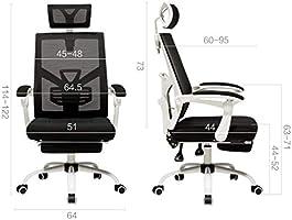 Amazon.com: Silla de oficina para ordenador con respaldo ...