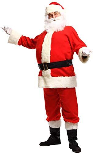S-Wang - Juego de 5 Piezas de Disfraz de Papá Noel para Adultos ...