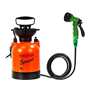 CLICIC Lawn and Garden Portable Sprayer 0.5 Gallon – Pump Pressure Sprayer Includes Shoulder Strap 2L