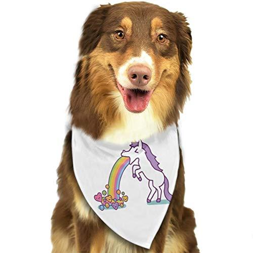 Pet Scarf Dog Bandana Bibs Triangle Head Scarfs Unicorn Accessories for Cats Baby Puppy -