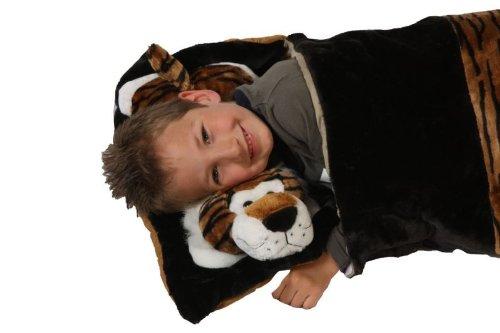 /Saco de dormir para ni/ños Saco de dormir Saco de dormir Presenta Tiger Saco de dormir 135/cm saco de dormir de animales de peluche animales infantil ni/ños Color Marr/ón Deluxe/ foxxeo 11003/de STD