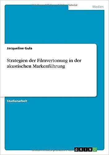 Book Strategien der Filmvertonung in der akustischen Markenführung