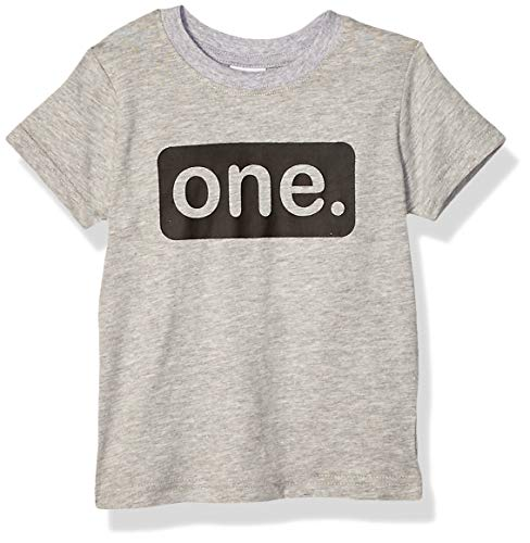 First Birthday Outfit boy 1st Birthday boy Gifts one Year Old Baby Boys Shirt (Light Gray, 2y)