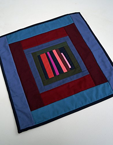 Abstract Colorful Quilted Wall Hanging or Table Topper by My Bit Of Wonder