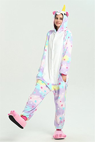 Laizi Magical Adult Unicorn Onesie Pajamas Christmas Costume Sleepwear