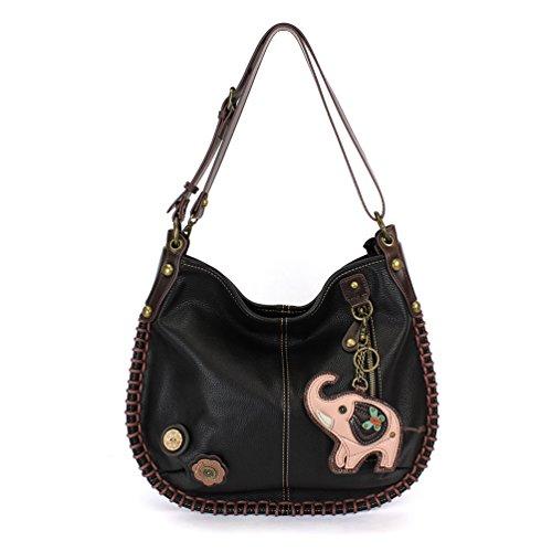 Black Bag Elephant Soft Large Hobo CHALA or Style Black Handbag Shoulder Crossbody Casual Crossbody 0FwOP