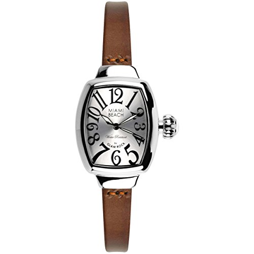 Glam Rock Women's MBD27042 Miami Beach Art Deco Silver Dial Stainless Steel Watch
