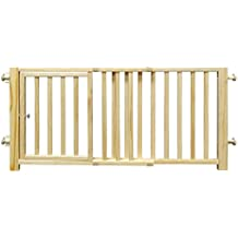 """Four Paws Walk Over Wooden Dog Gate, 30-44"""" W by 18"""" H"""