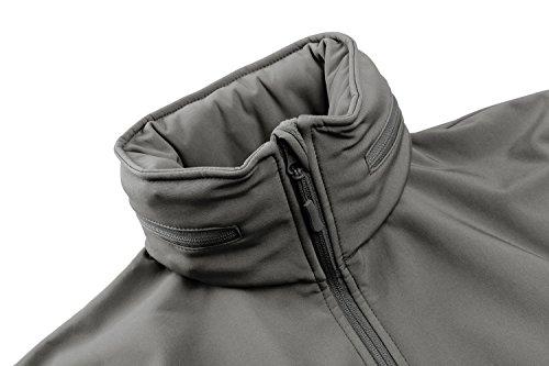 Hommes Escamotable Imperméable Softshell Tacvasen Capot Pour Polaire Veste Gris Avec S8qwXtx