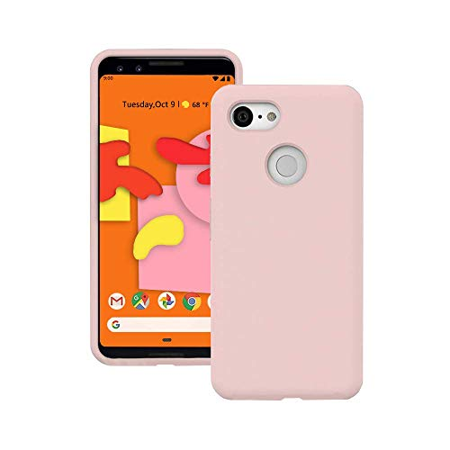 Google Pixel 3 Case, Liquid Silicone Gel Rubber Matte Case[Comfortable Grip] Drop Shockproof Full Body Protection Phone Case[Screen & Camera Protection] for Google Pixel 3 2018 5.5 inch - Pink