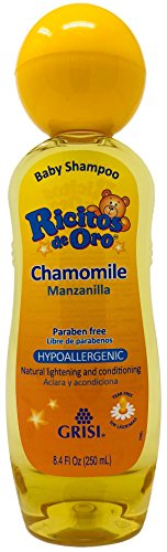 Chamomile Ricitos de Oro Shampoo| Baby Shampoo with Pop-Up Rattle Cap, Paraben Free Product for Baby's Delicate Hair; 8.4 Fl Ounces