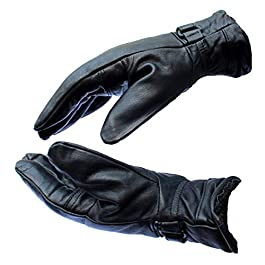 Frackson Leather Gloves Warm Snow and Wind Proof Formal and Casual Winter Gloves for Men Boy Adult Protective Warm Hand…