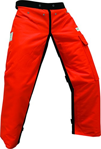 Forester Chainsaw Apron Chaps with Pocket, Orange 35' Length by Forester