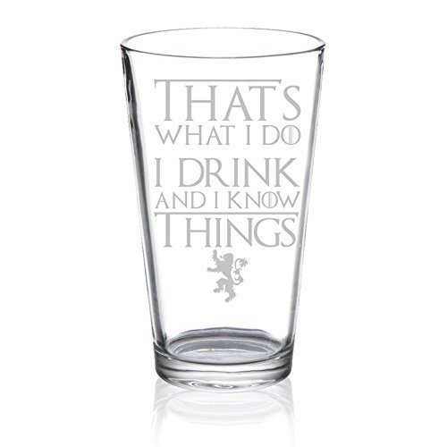 Game of Thrones - I Drink and Know Things - Etched Pint Glass