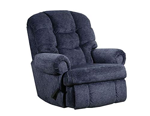 Lane Stallion Big Man Comfort King (Large) Wallsaver Recliner in Blue Depths. Made for The Big Guy Or Gal. Rated for Up to 500 Lbs. Extended Length. 79 Inches. Seat Width. 25 Inches. 4501 (Large)