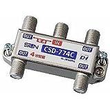 サン電子 4分配器 1端子電流通過型 10~2610MHz 屋内用 CSD-774C