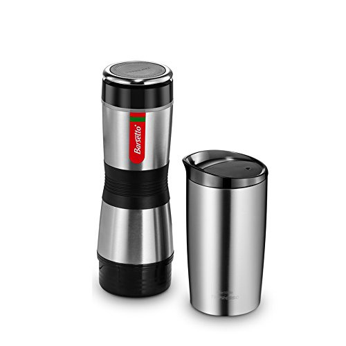 Press Coffee Machine Barsetto K Cup Capsule and Coffee Powder Hand Pressed Coffee Maker for Hiking Camping and Picnic