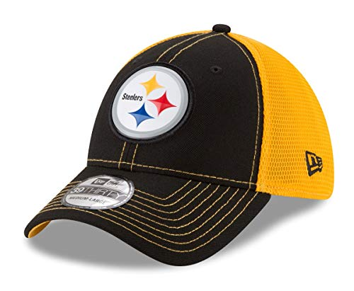 New Era Pittsburgh Steelers NFL 39THIRTY Fan Mesh Flex Fit Meshback Hat