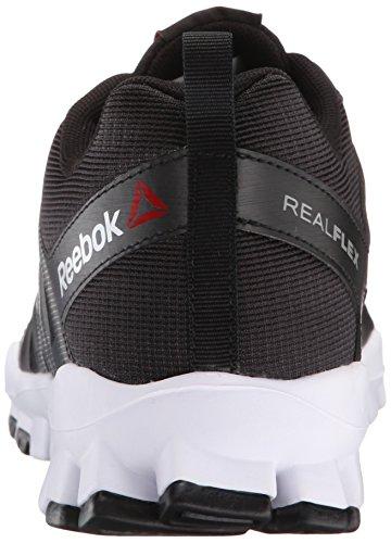 Reebok Menns Realflex Toget 4.0 Trening Sko Svart / Flat Grå / Hvit