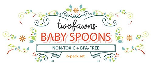Two Fawns Baby Spoons - Silicone Baby Spoon - BPA Free - Soft for Tender Gums and Teething - Self Feeding Spoon Utensil - Lead Free - PVC Free - (6 Pack) Blueberry Blue by TWO FAWNS (Image #8)