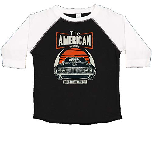 (inktastic - American Muscle Vintage Car Toddler T-Shirt 4T Black and White 339ce)