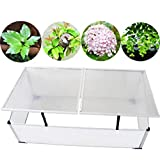 Tidyard Cold Frame 2 Lids Garden Raised Bed and Cold Frame Greenhouse with UV-Resistant & Waterproof 3' 7'' x 1' 4'' x 1' 10''