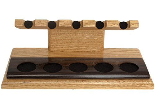 Neal Yarm Oak And Ziracote 5-Pipe Stand by Neal Yarm