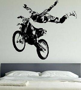 Motocross Motor bike Extreme Sports Sticker Wall Art Mural