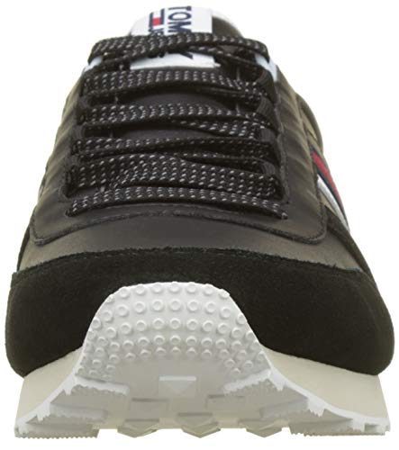 Black 990 Nero Runner Ginnastica Basse Retro da Sneaker Hilfiger Denim Scarpe Uomo wv1RZ7q
