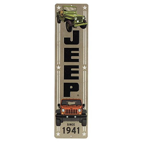 Sign Embossed - Open Road Brands Jeep 1941 Embossed Tin Sign