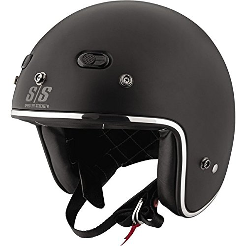 Speed and Strength SS600 Back In Black Matte Black Open Face Helmet - 2X-Large