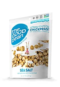The Good Bean Chickpea Snacks, Sea Salt, Gluten and Nut Free, 2.5-Ounce (Pack of 6)