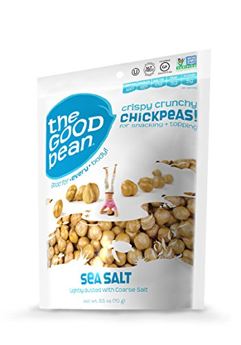 The Good Bean Chickpea Snacks, Sea Salt, Gluten and Nut Free, 2.5-Ounce (Pack of 6) ()