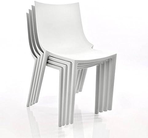 Driade BO Chaise de Jardin, Polypropylène, Blanc, Lot de 4