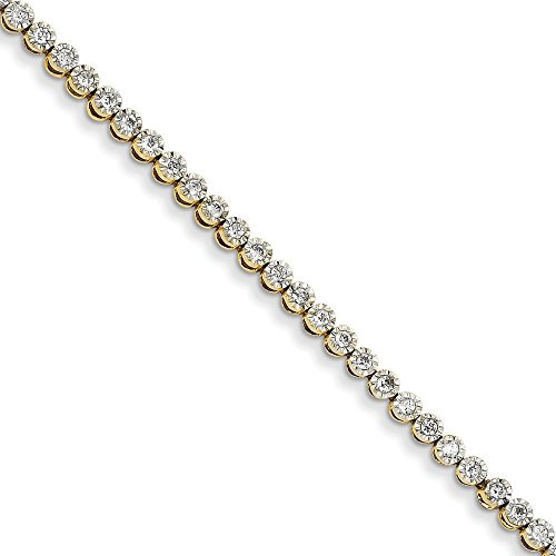 JewelryWeb 14 carats-Bracelet de Tennis en diamants