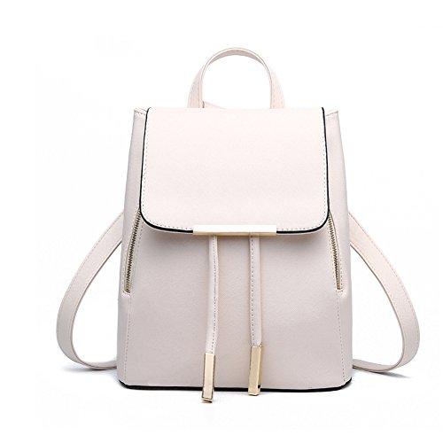 G-AVERIL GA1139-B - Bolso mochila para mujer negro negro blanco
