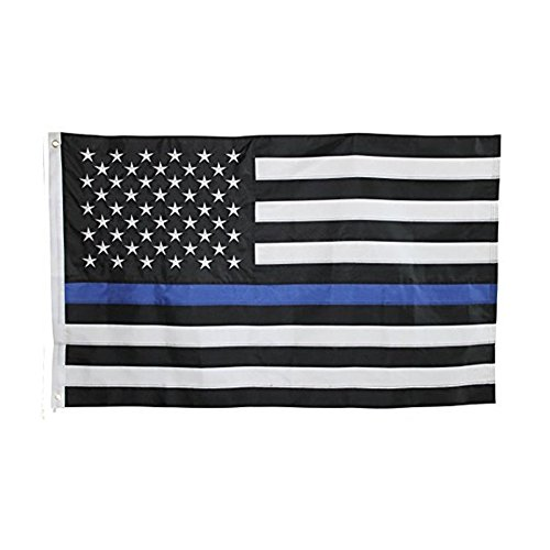 Tactical Pro Supply American Flag: 100% Made in USA (Blue Line) ()