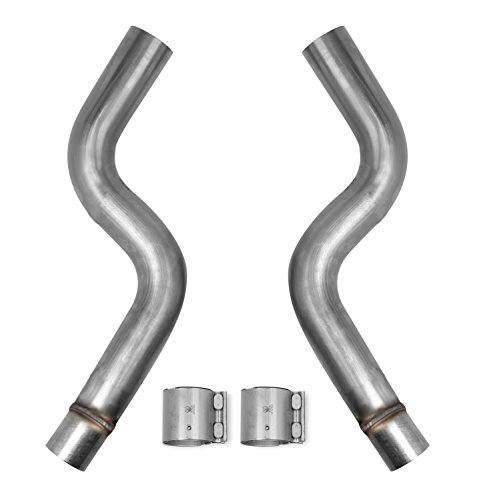 - Hooker 70802301-RHKR Blackheart Race Mid Pipe 3 in. Tubing To Connect Long Tube Headers To Factory Exhaust Blackheart Race Mid Pipe