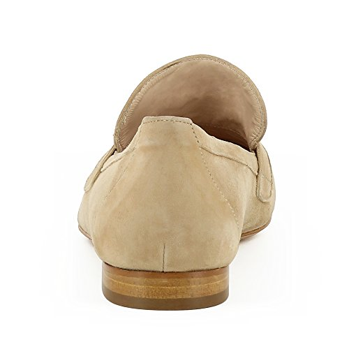 Scarpe Evita Signora Patty Pantofola In Pelle Scamosciata Beige