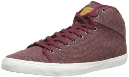 Supremebeing Sun Pave Herren Hohe Sneaker Rouge - Washed Burgundy