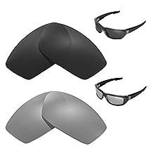 Walleva Polarized Titanium + Black Replacement Lenses for Spy Optic Dirty MO Sunglasses