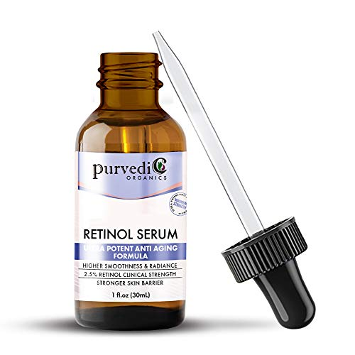 41L0MSXOPcL - Retinol Serum With Hyaluronic Acid - Organic 2.5% Anti Aging Face Serum with Vitamin C & Retinol A For Skin Brightening - Ultra Potent Retinol Hyaluronic Acid Serum