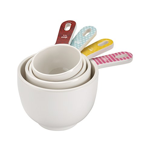 Cake Boss Countertop Accessories 4-Piece Melamine Measuring Cup Set, Basic Pattern
