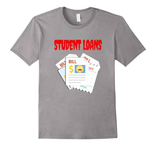 Mens Student Loans Scary Halloween Horror T-Shirt Medium (Male College Student Halloween Costume Ideas)