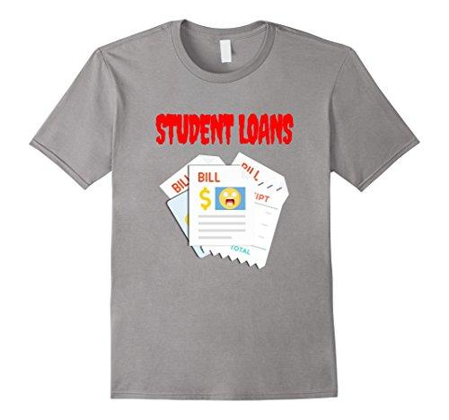 Male College Student Halloween Costume Ideas (Mens Student Loans Scary Halloween Horror T-Shirt Medium Slate)