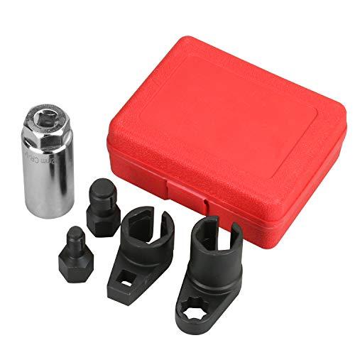 GOGOLO 5PCS Oxygen Sensor O2 Sensor Removal Socket Wrench and Tread Chaser Tool Kit by GOGOLO (Image #4)