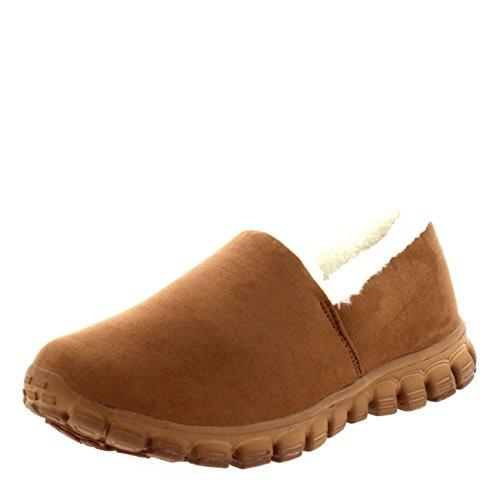 Get Fit Zapatos para Sin Entrenadores Caminar Pelaje Cordones Tan Caliente Mujer PPwr6