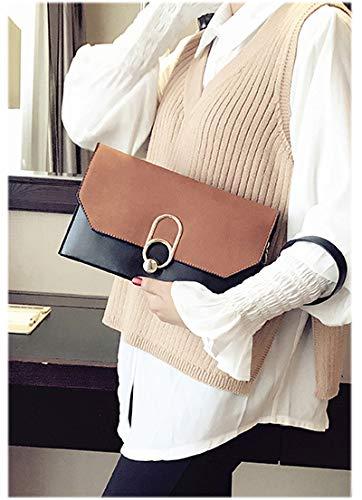 Formal with b16 Envelope Purse Shoulder Rhinestone Wristlet Womens Chain Clutch Evening Brown Handbag ALAIX pOwx8g5Sqn