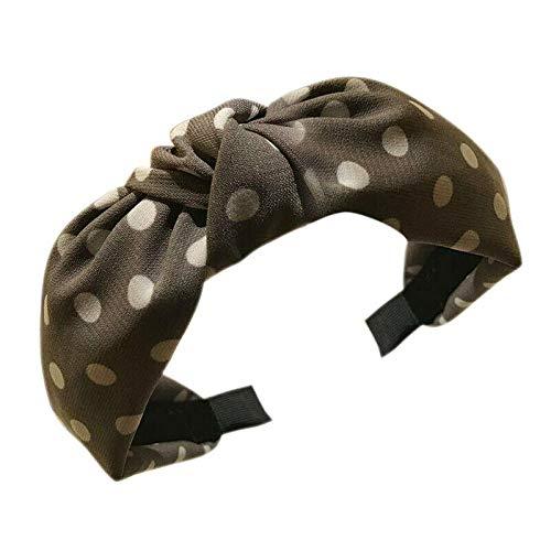 (Womens Headband Twist Hairband Bow Knot Cross Tie Headwrap Hair Band Hoop ZFA (Color - Beige))
